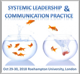 Systemic Leadership and Communication Practice November 19-20, 2018